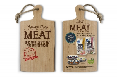 natural fresh meat case maek - beurs dibevo - stand - flyer
