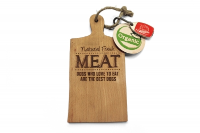 natural fresh meat case maek - beurs dibevo - stand - plankje met usb stick