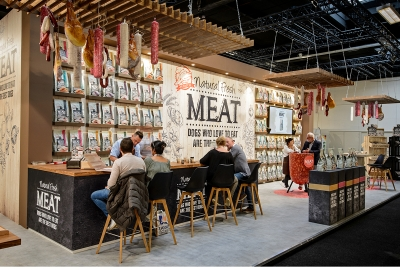 natural fresh meat case maek - beurs dibevo - stand bar