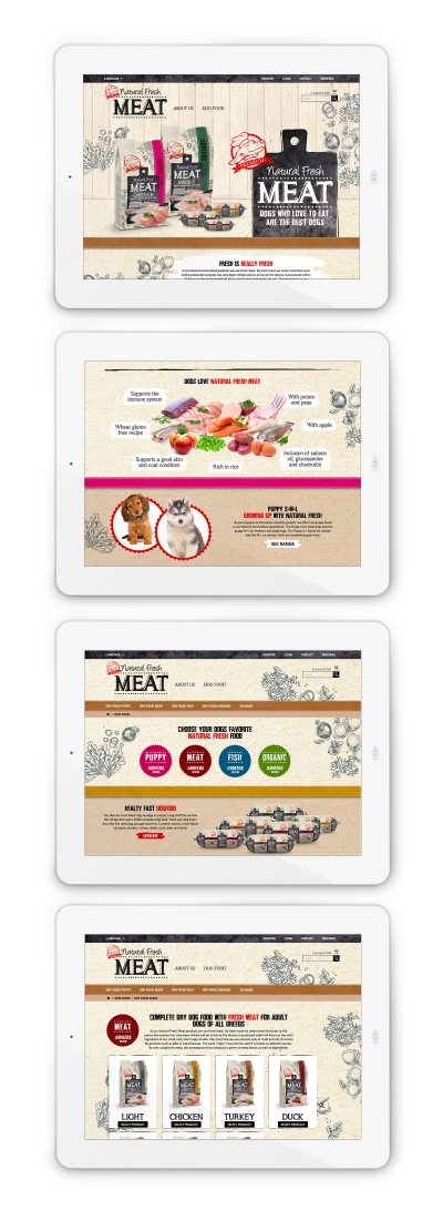 natural fresh meat portfolio maek website hondenvoer